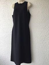 Agnona  Black Sleeveless  Dress Sz 48 Made in Italy