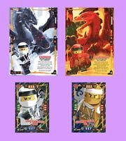 4 x TRADING CARD, Lego Ninjago, Serie 4: 2x MEGA XXL Karte + 2x XXL Karte, NEU