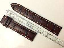 AUTHENTIC MIDO NEW 20MM BROWN GENUINE CROCOGRAIN LEATHER STRAP BAND BRACELET