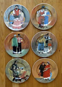 """6 Guy Buffet Tuscan Storefronts Salad Dessert Plates 8"""" 1997 Multiple Qtys"""