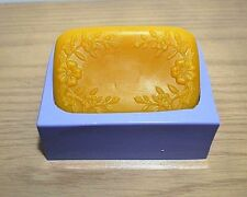 Silicone soap Mold flower print easy release single cavity Homemade