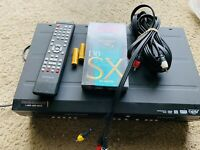 Magnavox ZV450MW8 VCR/ DVD Recorder With Remote, Cables, Blank VHS, & Batteries