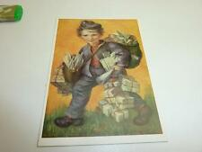 """vintage blank 70` greeting cards  Spötl"""" postman""""134"""""""