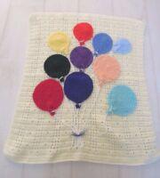 Handmade Knitted Crochet Cot Pram Moses Lap Granny Blanket New Baby Gift Nursery