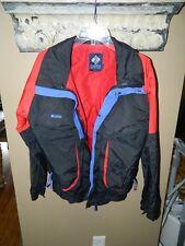 Columbia Powder Keg Ski Jacket Black Red Mens Size Medium
