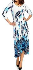 NEW Affinity for Knits™ 3/4 Sleeved Printed Scoop Neck Hi-Lo Dress  - SZ M