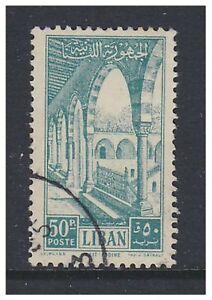 Lebanon - 1954, 50p Palace stamp - Used - SG 489