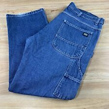 KEY IMPERIAL Denim Carpenter Dungaree Blue Jeans Mens 38x30 Is In Good Condition