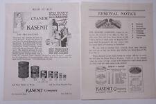 1926 Lamson Goodnow ADs Kasenit Co NYC Non Poisonous Ephemera L504C