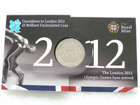 2012 Royal Mint London Olympic Games Countdown BU £5 Five Pound Crown Coin