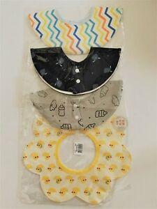 NEW STYLE!! 360 Waterproof Baby Bibs 100% Cotton Newborn to 4 Years (Packs of 4)