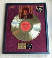 Bob Dylan Blonde On Blonde 1966 Vinyl Gold Metallized Record In Frame