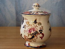"Vintage Mason's Ironstone Condiment Jar ""Mandalay Blue"" +3"