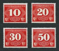 DR Nazi WWII Germany Rare WW2 MNH Stamps Hitler Service War Tax Fees GG NSDAP
