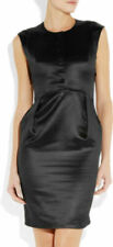 THEYSKENS THEORY BLACK COCKTAIL DRESS ACETATE WOOL SIZE 2 / 36 EUC ORIG $595