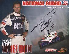 Indianapolis 500 winner DAN WHELDON Signed Indy Team Hero Card e