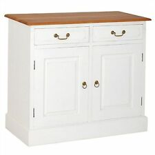 Tasmania Mahogany 100cm. 2-door 2-drawer buffet table sideboard caramel/white