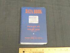 1938 PACKARD Six & Eight Saleman's Data Book Dealer Car Information