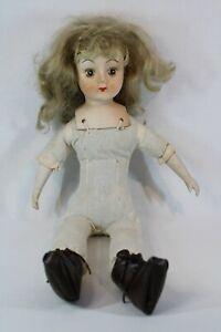 Porcelain Doll head arms legs cloth body refurbish repair spare parts 15inch