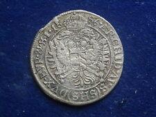 VI ( 6 ) Kreuzer 1686 SHS Breslau Leopold  I.  RDR  W/17/602