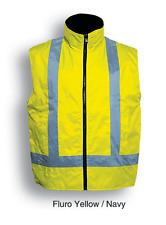 High Visibility WaterProof Reversible Vest + Reflective Tape Day and  Night Use