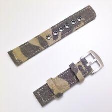 Correa De Lona Para Reloj - 18 mm - Camuflaje Militar - CMILICM18