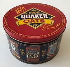 Tin Box Pure Quaker Oats with Oatmeal Cookie Recipe 1983 Metal Decorative Ltd Ed