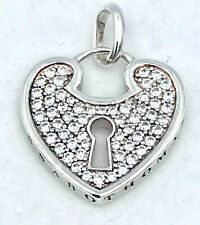 Genuine THOMAS SABO CZ Heart Pendant with keyhole_925 sterling silver