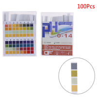 100Pcs PH indicator test strips 0-14 test paper water litmus tester urine sal Bq