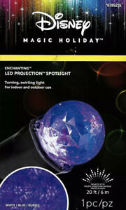 Disney Magic Holiday LED Projector Spotlight Blue White Purple Christmas Light