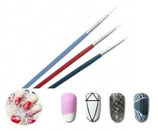 3pcs Nail Art Brush Design Painting Drawing Pen Liner Super Thin Paint Manicure