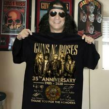 Guns N' Roses 35th anniversary members signed gift fan 1985-2020 T-Shirt S-5XL