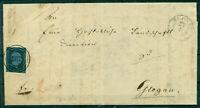 Preussen, Friedrich Wilhelm IV., Nr. 3 Einzelfrankatur Stempel 987