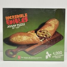 """Avalon Hill Incredible Edible 1000 pc Bread And Cheese 20"""" X 27"""" Jigsaw Puzzle"""