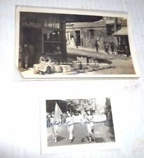 VINTAGE LOT OF 2  PHOTOS PHOTOGRAPH CHINATOWN SAN FRANCISCO 1930'S