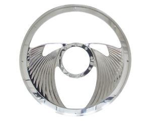 BILLET SPECIALTIES Half Wrap Steering Wheel -Eagle Polished P/N - 29825