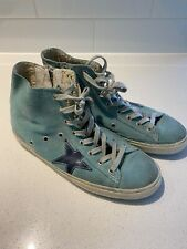 Golden Goose Women's Sneakers Blue Francy High Top Size 40