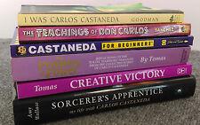 Book Lot/6 Carlos Castaneda Teachings Works Beginners Yaqui Shaman Apprentice