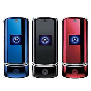 Original Unlocked Motorola KRZR K1 Flip Cell Mobile Phone Bluetooth 2MP MP3 GSM