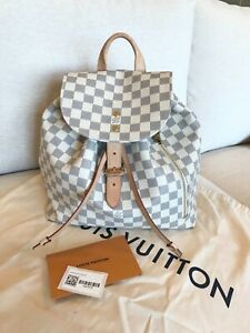 Louis Vuitton Damier Azur Sperone large backpack N41578 tag & dustbag