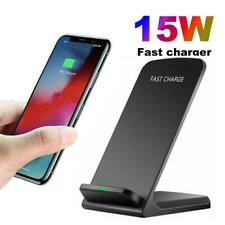 15W Qi Wireless Charger Fast Charging Dock Stand For i Phone11 X Samsung S10+ S9