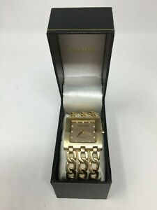 NEW Vernier 27690 Vernier Women's Triple Chain Square Dial Watch - Gold