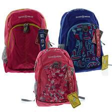 "Swiss Gear 17.5"" Reflective Padded Tablet Backpack Book Bag Mesh Side Pockets"