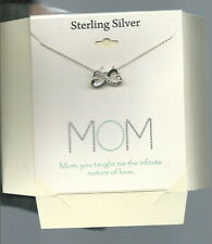 I-001 - Footnotes Sterling Silver Mom Infinite Love Necklace New on Card Mothers