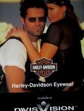"1995 Harley Davidson Eyewear Davis Vision Original Ad-8.5 x 10.5"""