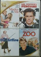 Marley & Me/Mr. Popper's Penguins/Mrs. Doubtfire/We Bought a Zoo (4 DVD Set) NEW