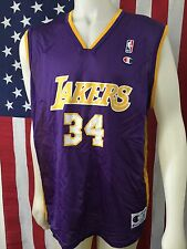 VTG🔥 Champion NBA Los Angeles Lakers Shaquille O'Neal Retro Purple Jersey 44