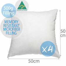 4 X Aus Made Premium Polyester Microfibre Pillow Cushion Inserts 50x50cm