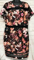 Boutique Women's Black Floral Sheet Dress Floral Sheath Plus Size 3X