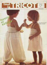 Revue de mode Catalogue de tricot - Tout le Tricot n°176 - 1981 - Layette enfant